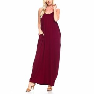 Women's Oversized Casual Maxi Dress with Pockets
